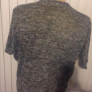 Poetry Tops - Medium black/white marled top w/ short sleeves